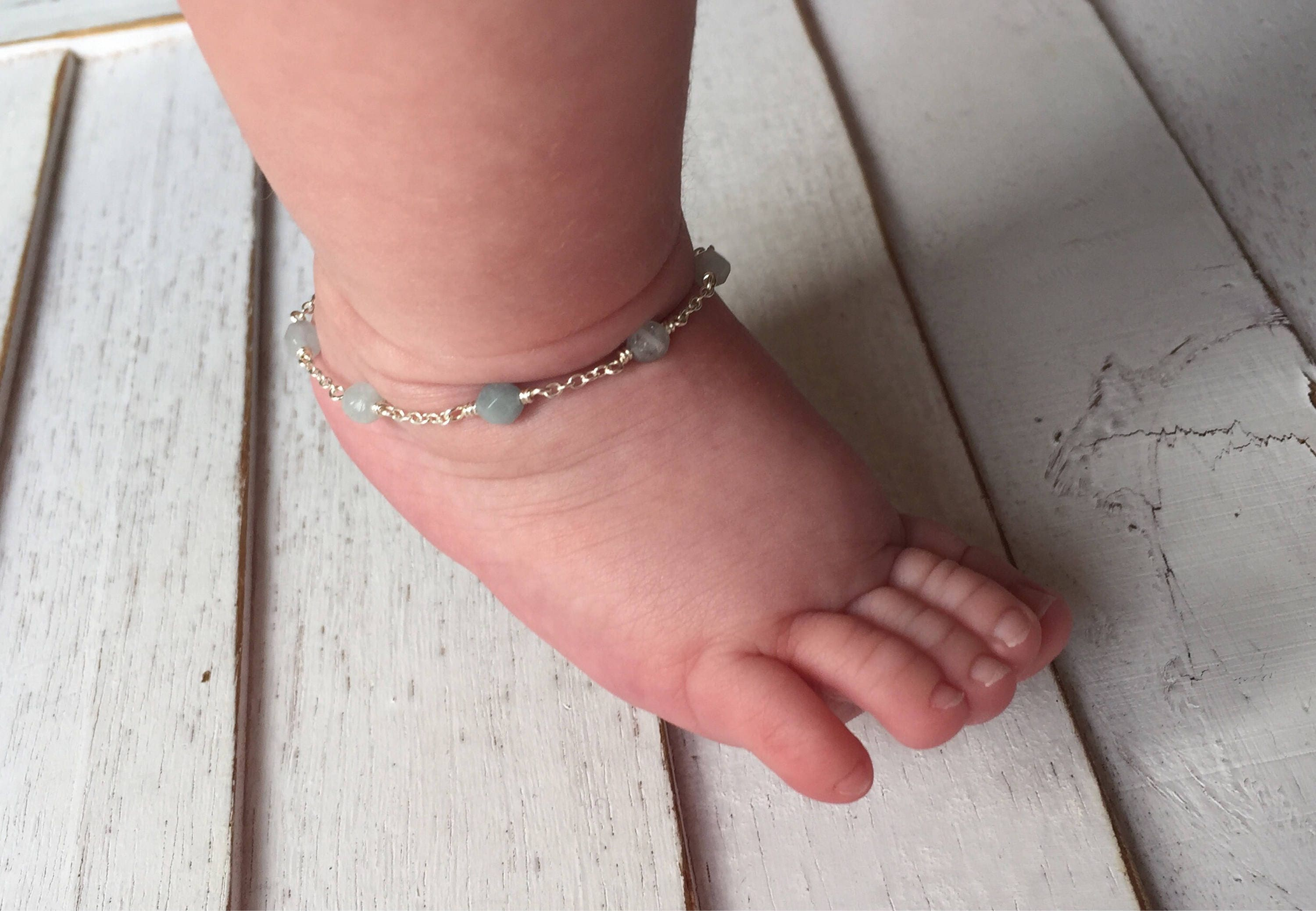 jewelry beach beaded stretch with seed anklet elastic il ocean fullxfull barefoot listing