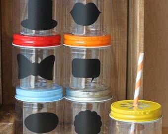 Plastic Mason Jars, 10 Plastic Jar Cup Favors, Mason Jars with Lids,  Party Supplies, Wedding Favors, Baby Shower Favors, 8oz, Kids Birthday