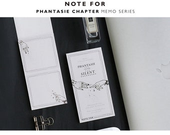 Series of 4 Phantasise Pocket Notepad tear Memos