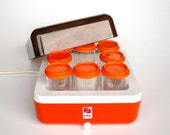 Vintage Orange Yoghurt Maker /  70's Yugoslavia / FEP Orange Kitchen Appliance