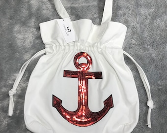 Canvas Bag with handstitched Anchor design