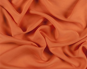 Orange Silk Double Georgette, Fabric By The Yard
