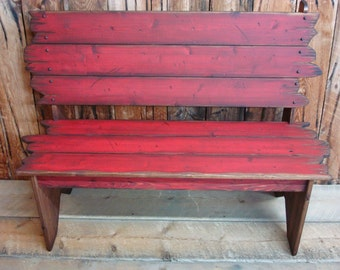 Wood Barn Wood Bench, Bench, Western Bench, Rustic Bench