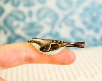 bird brooch , bird jewelry , cute bird pin , bird gifts , bird lover gift , bird jewelry , forest brooch , nature pin