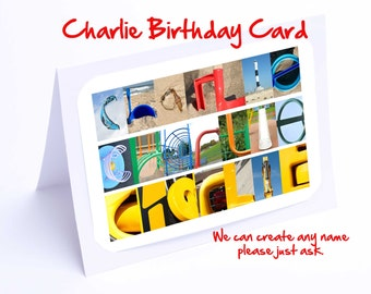 Charlie Personalised Birthday Cards