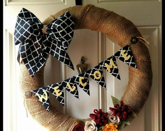 Large Welcome Wreath