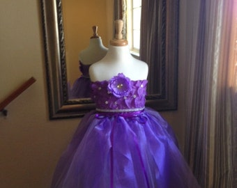 Purple Flowergirl dress