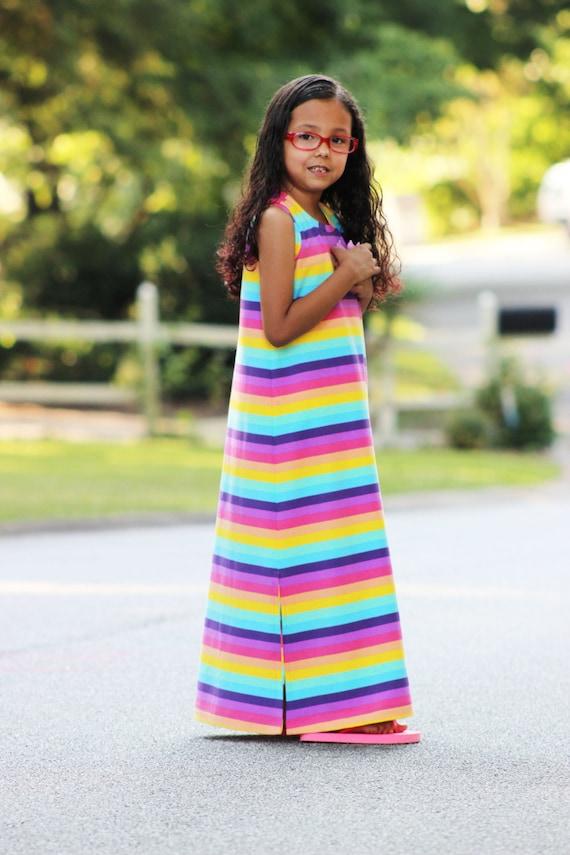 Dogwood Dress 12m-8 PDF sewing pattern maxi dress pattern
