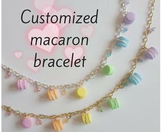 Tiny Macaron Bracelet - Choose your own colours!