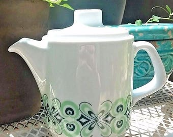 Vintage Teapot Austria Ceramics Lilien Porzellan Mid Century Teapot