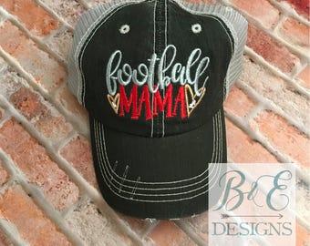 Football Mama Hat, Football Trucker Hat, Team Spirit Hat, Football Mom hat, Team Mom Hat