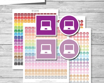 Computer Stickers, Laptop Stickers, Printable Computer Stickers, Printable Computer Planner Stickers, Laptop Planner Stickers - PS175