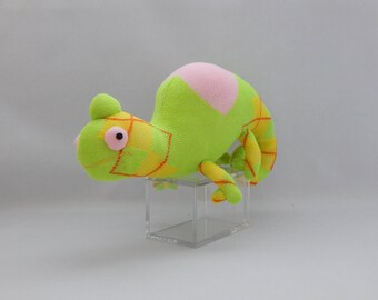 Chameleon Plush Toy, Reptile Stuffed Animal, Sock Toy, Sock Monkey Stuffed Toy