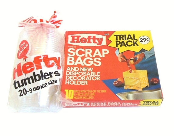 Hefty Tumblers Clear Plastic Cups On the Rocks or Hefty Scrap