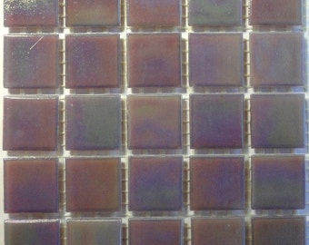20mm (3/4) Lavender Purple Iridescent Vitreous Glass Mosaic Tiles//Mosaic Supplies//Mosaic Pieces//Crafts
