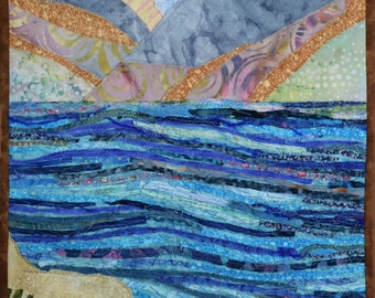 Quilted Landscape Scenes of Israel: Shores of the Sea of Galilee (Kinneret)