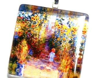 Monet- Child In Garden Pendant For Necklace-Gift Box-Silver-Fine Art-Gift For Women-Ready To Give