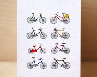 8# Retro Bicycle Card