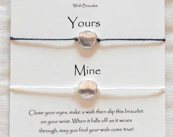 Couple wish bracelet, couple's wish bracelet, his hers bracelets, couple's bracelet set, couples wish bracelets, pulsera para pareja