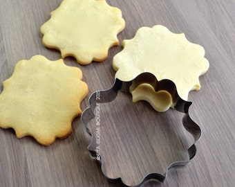 Cookie Cutter | Fondant Cutter | Plaque Cutter |NO RUST CUTTERS| Dishwasher safe|  French Chocolate Plaque - A7
