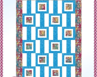 Downloadable Gallery Quilt Pattern Easy 3 Yard design