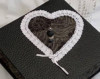 Heart jewelry box casket