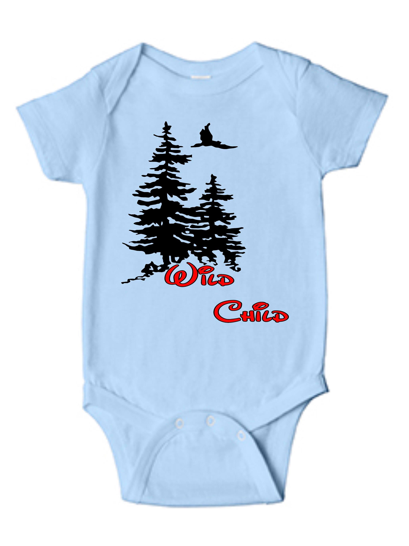 Wild Child Infant Bodysuit Hunting Wild Child Baby One Piece