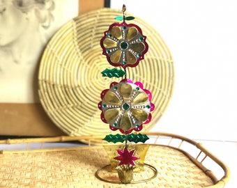 Colorful Tin Candleholder, Christmas Decor