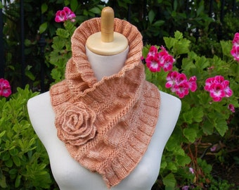 Ruffled and Ruched Scarf PDF Knitting Pattern Instant Download (ENGLISH ONLY)