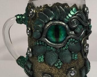 Forest Dragon Eye Tankard Glass