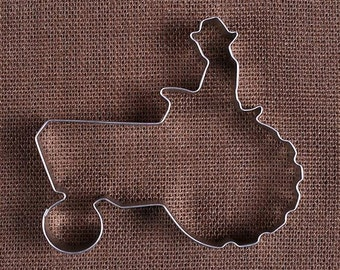 Tractor Cookie Cutter, Farmer Cookie Cutter, Jumbo Cookie Cutter, Metal Cookie Cutters, Summer Cookie Cutters, Sugar Cookie Cutters