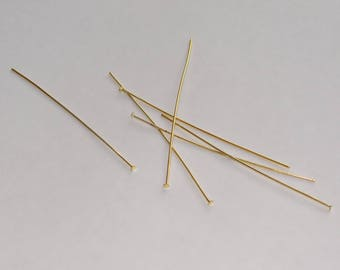 nail pin has gold flat head 7cm