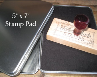 Oversized Stamp Pad,  Felt Ink Pad - 5x7