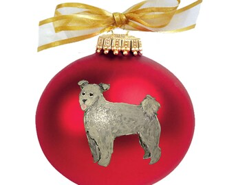 Pumi Dog Hand Painted Christmas Ornament - Can Be Personalized with Name