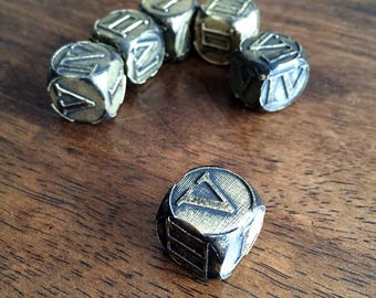 Engraved Roman Numeral Dice for Tabletop Gaming - You Pick the Color!