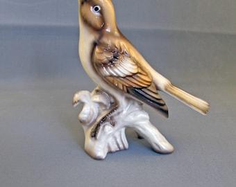 Vintage Bird Figurine Sparrow