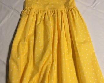 Yellow Polka Dot Sun Dress