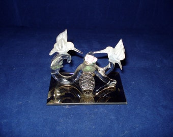 Humming  bird Glass Ornament