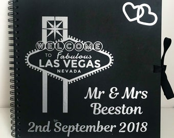 Personalised Mr & Mrs Wedding Scrapbook or Photo Album or Guest Book