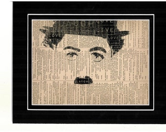 9 Typography of Charlie Chaplin dictionary art