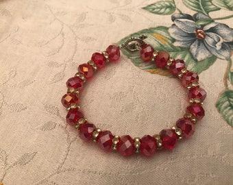 Red Ruby Charming Bracelet