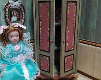 Novelty Cabinet 1:12 for dollhouse miniature furniture hand painted