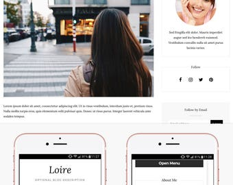 Blogger Template Responsive, Blogger Theme, Minimal, Slider, Simple, Photography, Template for Blogger, Premade, Blogspot - Loire