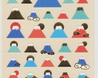 Mt Fuji Stickers - Paper Stickers - Reference A4136