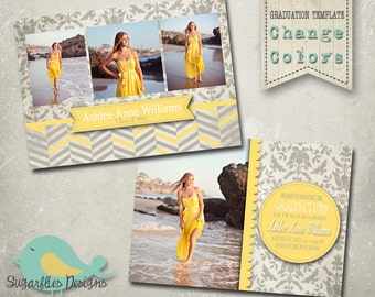 Graduation Announcement PHOTOSHOP TEMPLATE -  Senior Graduation 24