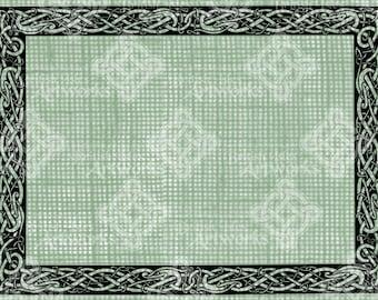 Digital Download, Celtic Knot Page Border design, Irish Ireland, St Patrick's Day,  Iron on Transfer, DigiStamp, Transparent png