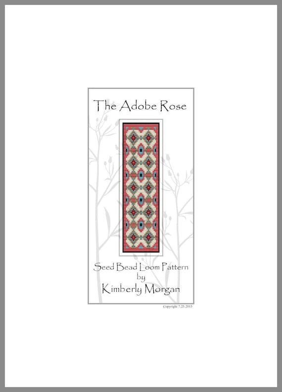 The Adobe Rose Loom Pattern PDF contains Color Graphs and Row