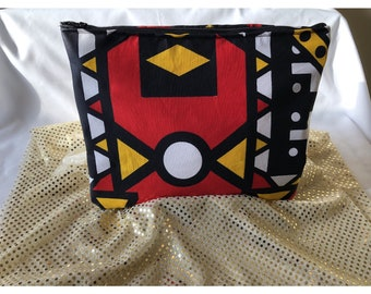 African print, Clutch, make up bag