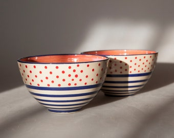 "Bowl ""Dots or stripes?"""