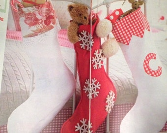 Christmas Classic Stocking Sewing Pattern, set of 3 patterns